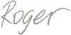 Roger name handwritten text
