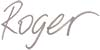 Roger name handwritten text