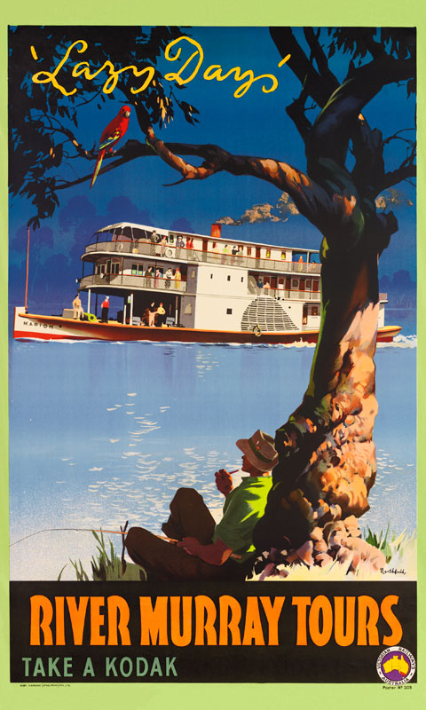 Lazy Days Vintage Travel Poster By James Northfield