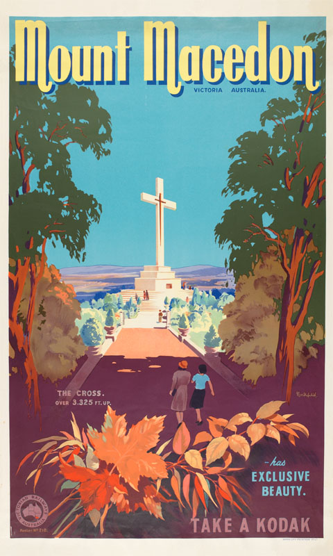 Mount Macedon Vintage Travel Poster By James Northfield