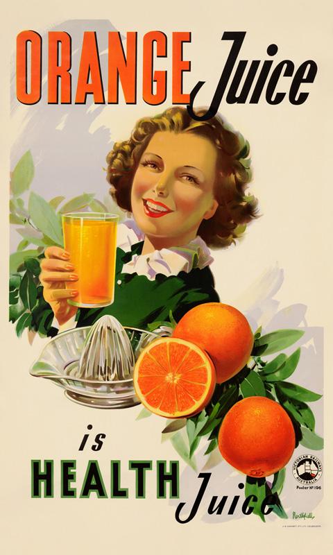 Orange Juice - Vintage Poster by James Northfield, as seen ...