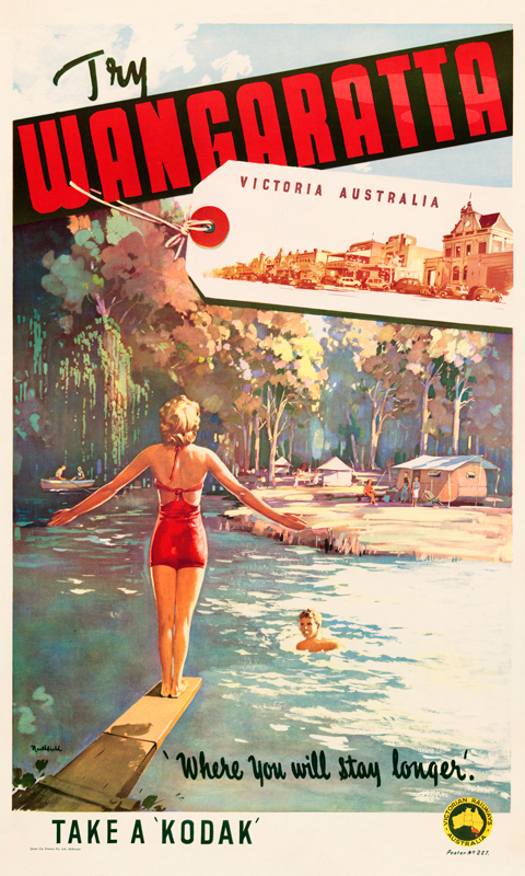 Wangaratta Vintage Travel Poster By James Northfield