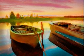 Two Boats Ready - Artwork from Printism