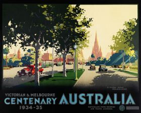 St. Kilda Rd - Vintage Travel Poster by James Northfield