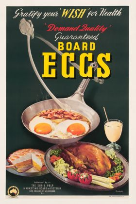 Board Eggs - Vintage Adversting Poster by James Northfield