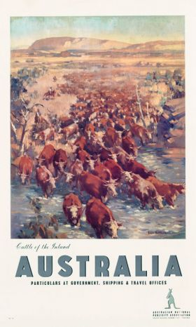 Cattle of the Inland - Vintage Travel Poster by James Northfield