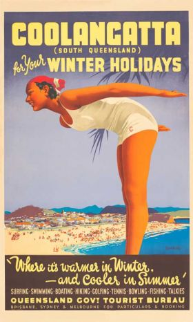 Coolangatta - Vintage Travel Poster by James Northfield
