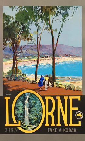 Lorne - Vintage Travel Poster by James Northfield
