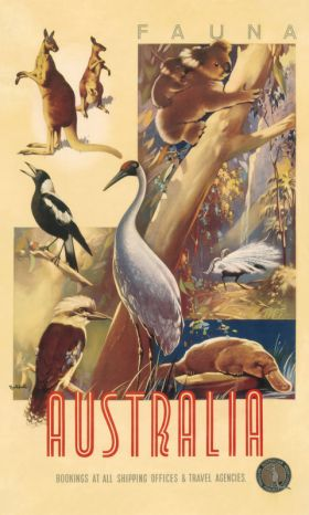 Fauna - Vintage Travel Poster by James Northfield