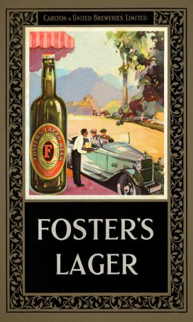 Foster's Lager Vintage Advertising Poster by James Northfield