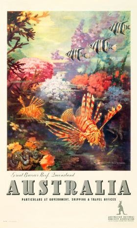 Great Barrier Reef - Vintage Travel Poster by James Northfield