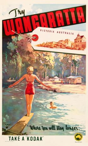 Wangaratta - Vintage Travel Poster by James Northfield