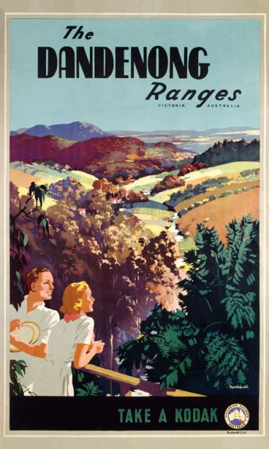 Dandenong Ranges - Vintage Travel Poster by James Northfield